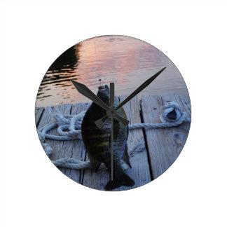 Bluegill at sunset Lake Arrowhead Clock