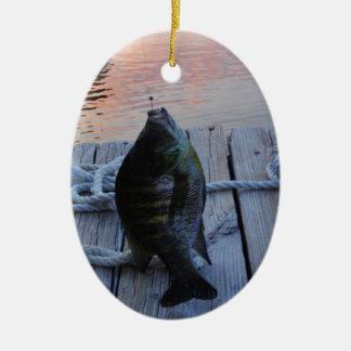 Bluegill at sunset Lake Arrowhead Christmas Ornament