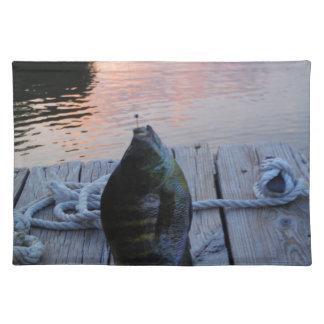 Bluegill at sunset Lake Arrowhead Cloth Place Mat