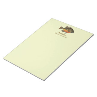 Bluegill Bream Fishing Notepad