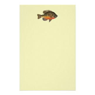 Bluegill Bream Stationery Paper