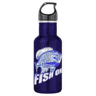Bluegill fish on blue 532 ml water bottle
