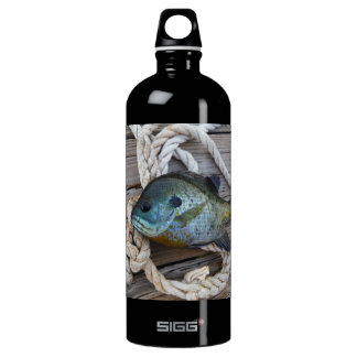 Bluegill fish on dock and rope SIGG traveller 1.0L water bottle