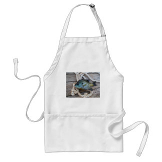 Bluegill fish on dock and rope standard apron