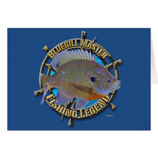 Bluegill fishing legend greeting cards