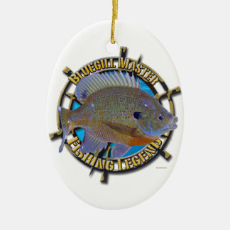 Bluegill fishing legend ceramic oval decoration
