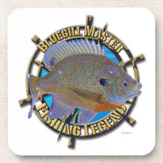 Bluegill fishing legend drink coaster