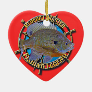 Bluegill fishing legend christmas tree ornaments