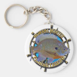 Bluegill fishing legend keychain