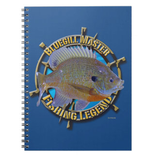 Bluegill fishing legend notebooks