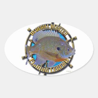 Bluegill fishing legend oval sticker