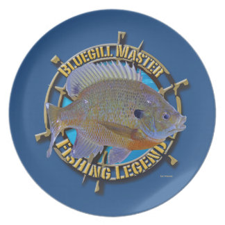 Bluegill fishing legend plate