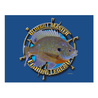 Bluegill fishing legend postcards