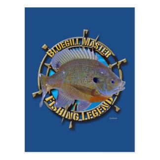 Bluegill fishing legend postcard