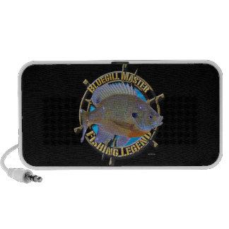 Bluegill fishing legend notebook speaker