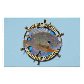 Bluegill fishing legend stationery design