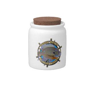 Bluegill fishing legend candy jars