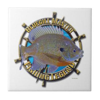 Bluegill fishing legend ceramic tile