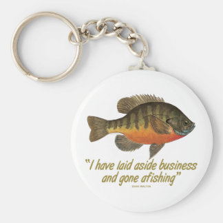 Bluegill Fishing Quote Basic Round Button Key Ring
