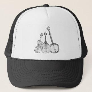 Bluegrass Band B&W Trucker Hat