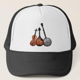 Bluegrass Band Cartoon Trucker Hat
