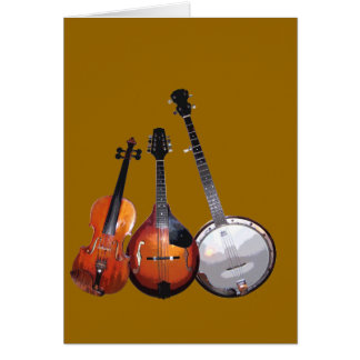 Bluegrass Band Filtered Greeting Card