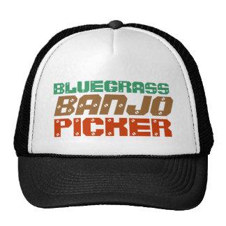BLUEGRASS, BANJO, PICKER CAP