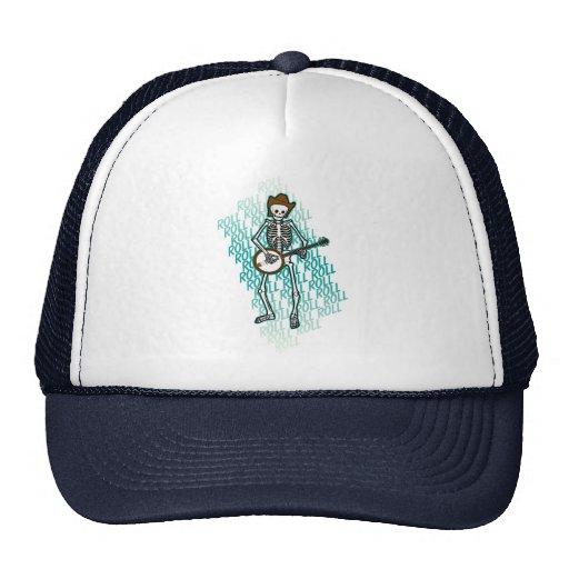 Bluegrass Banjo Skeleton Mesh Hat