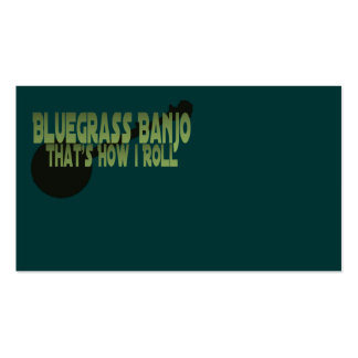 Bluegrass Banjo That s How I Roll Business Card Templates
