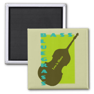 Bluegrass Bass: Less is More Square Magnet
