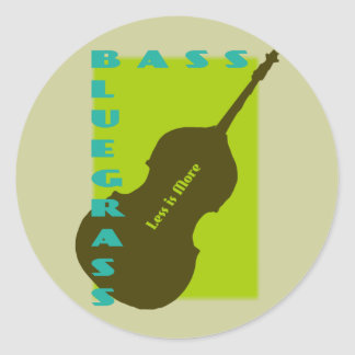 Bluegrass Bass: Less is More Round Stickers