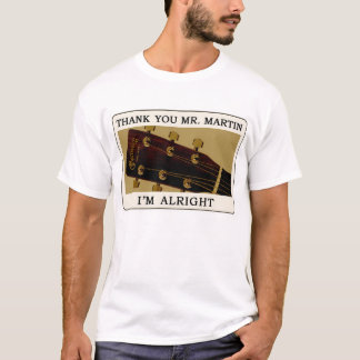 Bluegrass Guitar T-Shirt - Thank You Mr. Martin..