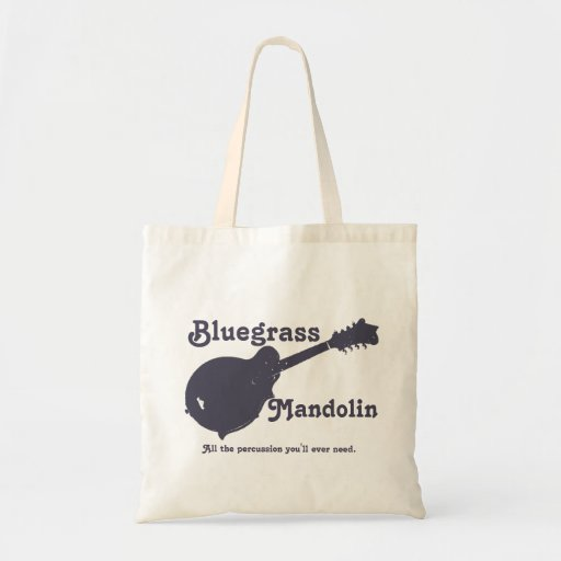 Bluegrass Mandolin - All the Percussion You Need Tote Bags