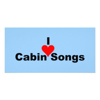Bluegrass Music: I (heart) Cabin Songs Customised Photo Card
