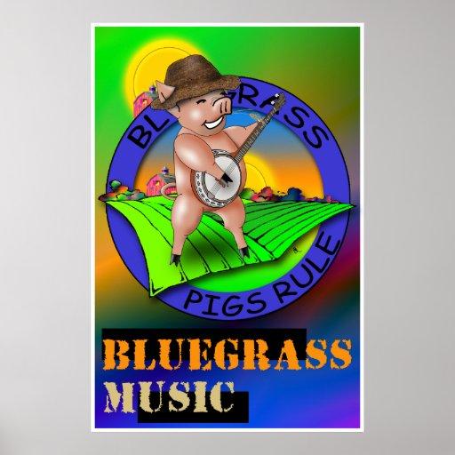 Bluegrass Music Poster