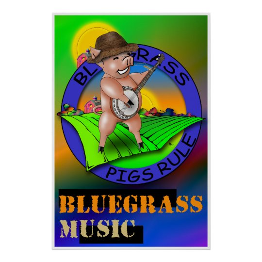 Bluegrass Music Poster
