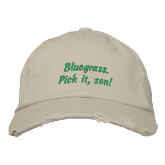 Bluegrass Pick it Son Embroidered Hat