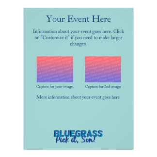Bluegrass Show or Jam Session Personalized Flyer