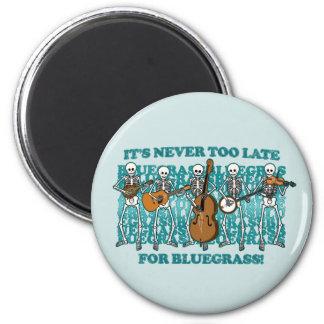 Bluegrass Skeletons 6 Cm Round Magnet