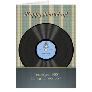 Bluegrass Vintage Vinyl Record Personalised Cards