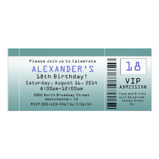 BlueGreen Ticket Invitations