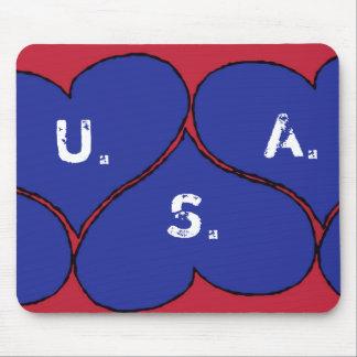 bluehearts, U., S., A. Mouse Pad