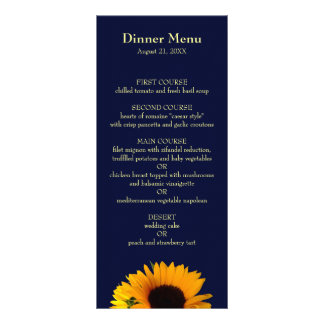 BlueII Sunflower Dinner Menu