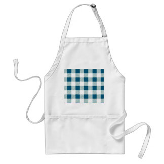 Blueish Gingham Check Pattern Standard Apron