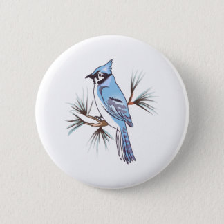 BLUEJAY 6 CM ROUND BADGE