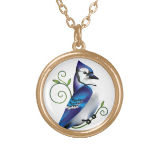 Bluejay Day Gold Plated Necklace