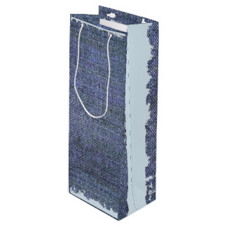 Bluejean Scrap wine gift bag