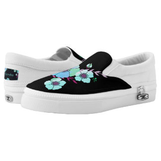 Bluelight Summer flower Slip-On Shoes