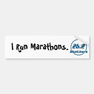 BlueLiner Marathon Bumper Sticker