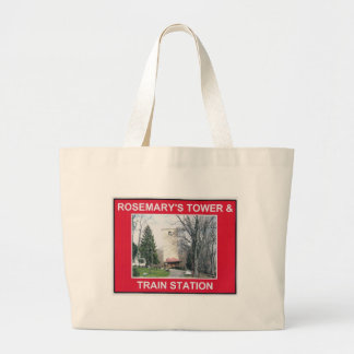 BLUEMONT VIRGINIA MILL AND TRAIN STATION LARGE TOTE BAG